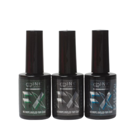 topcoat no wipe Ink London fx glitter Wes'thetique